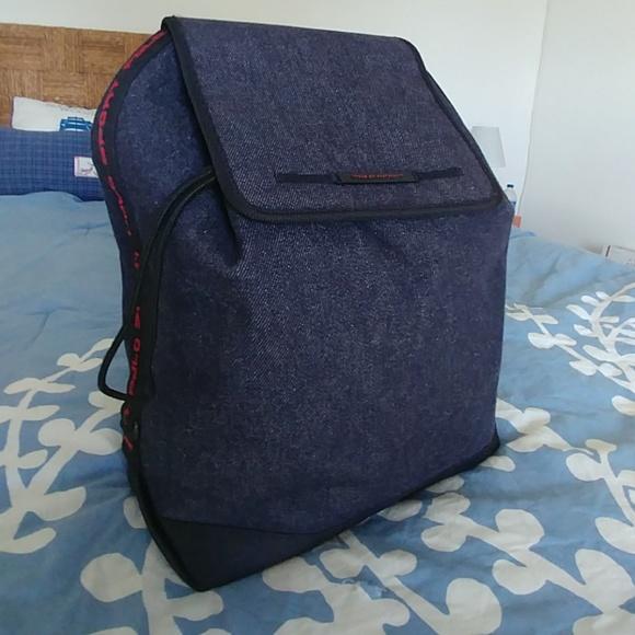 Polo Sport Unisex denim drawstring backpack bag. M 5c210072819e9034ba274a6d 9a6ce835b3503